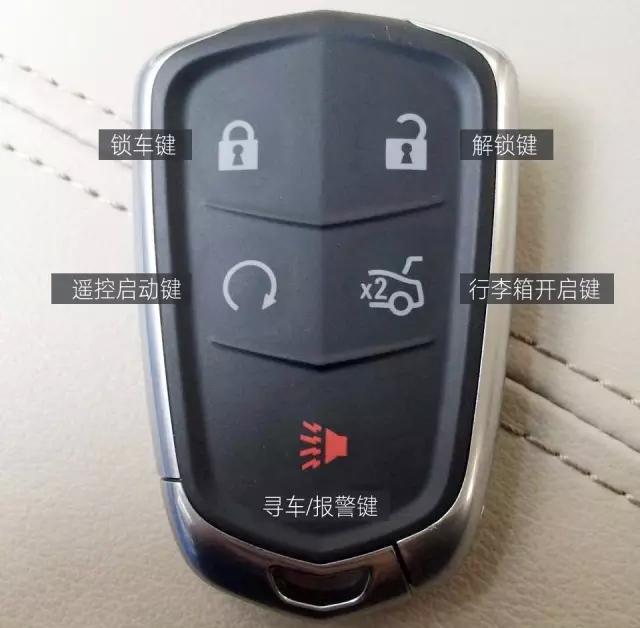 车辆,您是否会使用到凯迪拉克遥控钥匙的其他功能?这把小小的高清图片
